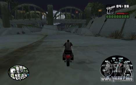 Velocímetro de VAZ 2105 para GTA San Andreas sucesivamente de pantalla
