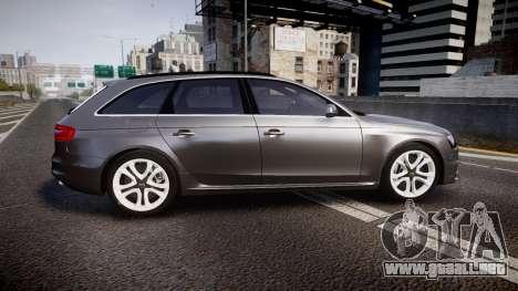 Audi S4 Avant Unmarked Police [ELS] para GTA 4 left