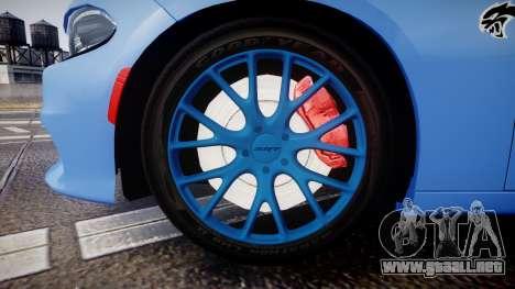 Dodge Charger SRT 2015 Hellcat para GTA 4 vista hacia atrás
