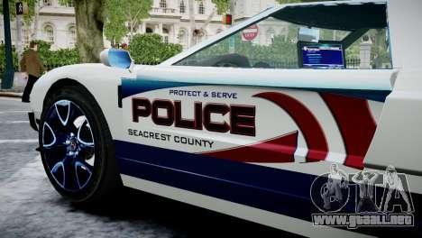 Bullet Police Car para GTA 4 visión correcta