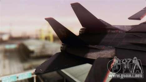 Grumman F-14D Super Tomcat para GTA San Andreas vista posterior izquierda