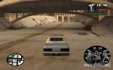 Velocímetro de VAZ 2105 para GTA San Andreas tercera pantalla