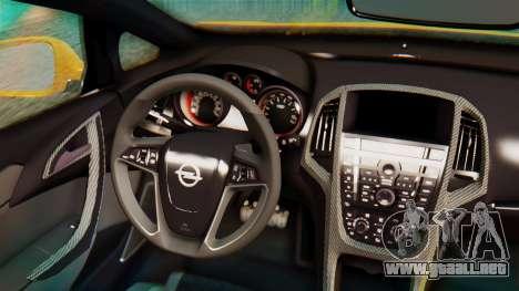 Opel Astra J OPC para GTA San Andreas vista hacia atrás