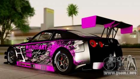 Nissan GT-R (R35) GT3 2012 PJ4 para la visión correcta GTA San Andreas