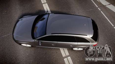 Audi S4 Avant Unmarked Police [ELS] para GTA 4 visión correcta