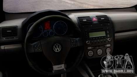 Volkswagen Golf Mk5 GTi Tunable PJ para la visión correcta GTA San Andreas