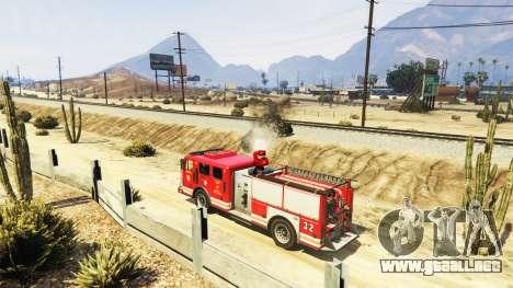 GTA 5 La misión de los bomberos v2.0 tercera captura de pantalla