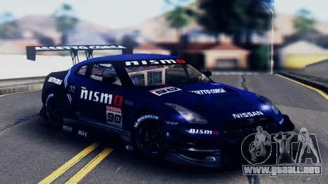 Nissan GT-R (R35) GT3 2012 PJ5 para vista inferior GTA San Andreas