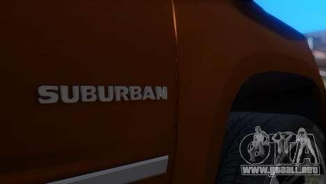 Chevrolet Suburban 2015 para GTA San Andreas vista hacia atrás