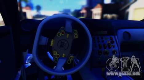 Nissan GT-R (R35) GT3 2012 PJ5 para visión interna GTA San Andreas