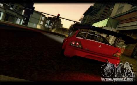 Mitsubishi Lancer Evolution IX Street Edition para la visión correcta GTA San Andreas