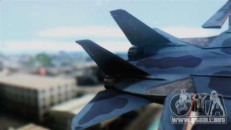 F-14J Super Tomcat JASDF para GTA San Andreas vista posterior izquierda