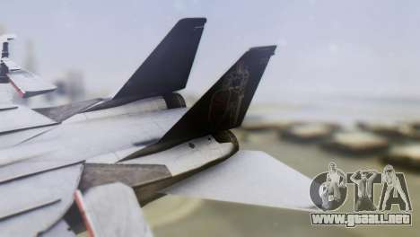Grumman F-14A Tomcat para GTA San Andreas vista posterior izquierda
