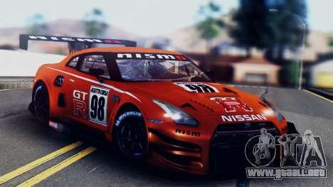 Nissan GT-R (R35) GT3 2012 PJ5 para GTA San Andreas interior