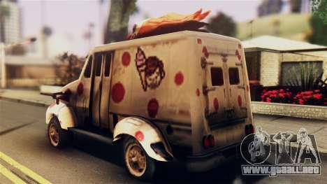 Sweet Tooth Car para GTA San Andreas left