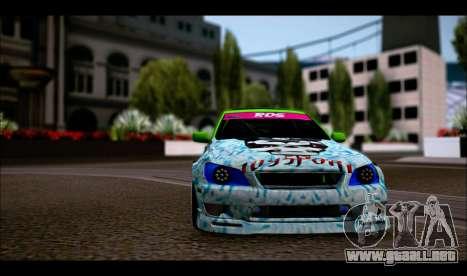 Toyota Altezza para GTA San Andreas vista posterior izquierda