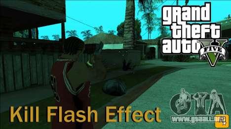 GTA 5 Kill Flash Effect para GTA San Andreas