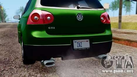 Volkswagen Golf Mk5 GTi Tunable PJ para el motor de GTA San Andreas
