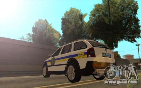 Skoda Octavia Scout de la polica de ucrania para GTA San Andreas left