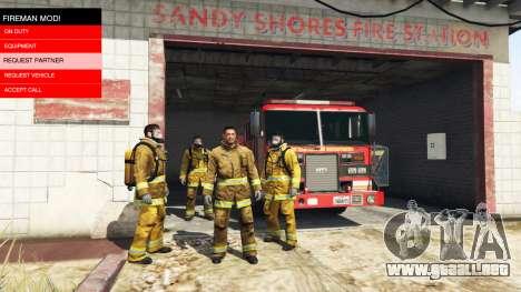 GTA 5 La misión de los bomberos v2.0 segunda captura de pantalla