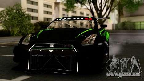 Nissan GT-R (R35) GT3 2012 PJ4 para GTA San Andreas vista hacia atrás