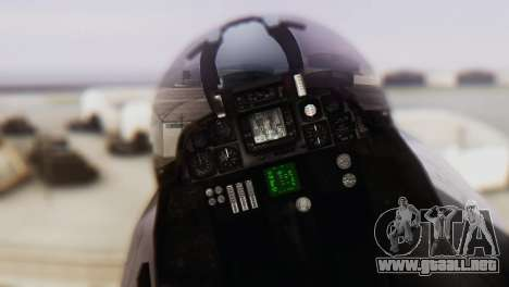 F-14A Tomcat VF-33 Starfighters para GTA San Andreas vista hacia atrás