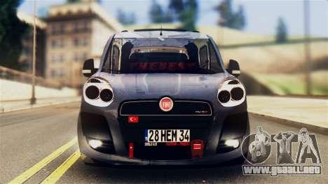 Fiat Doblo para GTA San Andreas vista posterior izquierda