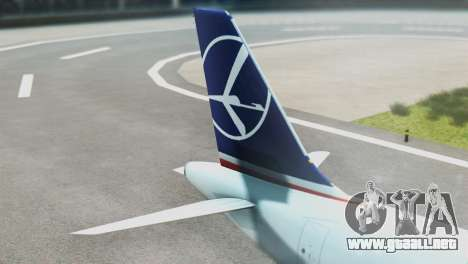 LOT Polish Airlines Airbus A320-200 (New Livery) para GTA San Andreas vista posterior izquierda