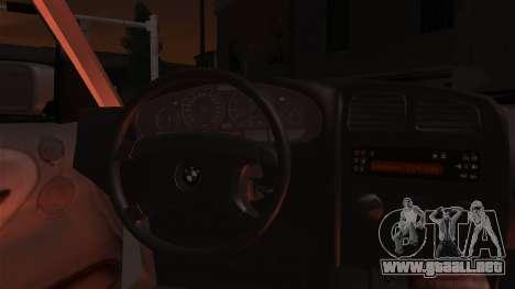 BMW 316i Touring para visión interna GTA San Andreas