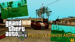 La habilidad especial de Franklin indicador para GTA San Andreas