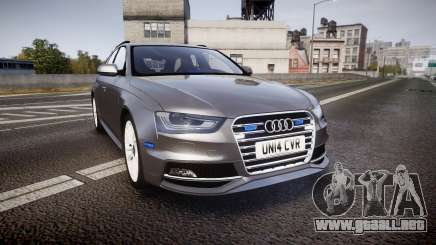 Audi S4 Avant Unmarked Police [ELS] para GTA 4