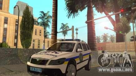 Skoda Octavia Scout de la polica de ucrania para GTA San Andreas