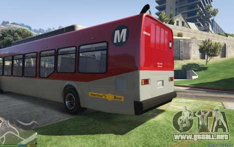GTA 5 New Bus Textures v2 vista lateral izquierda