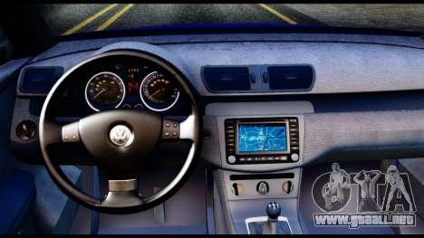 Volkswagen Passat B6 para GTA San Andreas vista hacia atrás