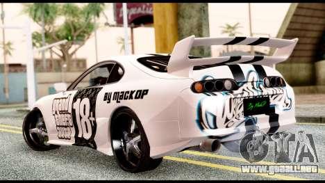 Toyota Supra Full Tuning v2 para GTA San Andreas left