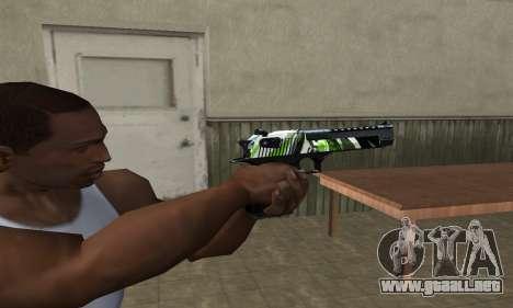 Ben Ten Deagle para GTA San Andreas segunda pantalla