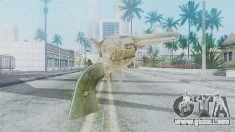 Red Dead Redemption Revolver Sergio para GTA San Andreas segunda pantalla