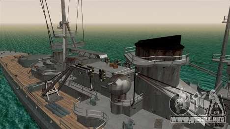 Scharnhorst Battleship para GTA San Andreas vista hacia atrás