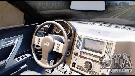 Infiniti FX45 para GTA San Andreas vista hacia atrás