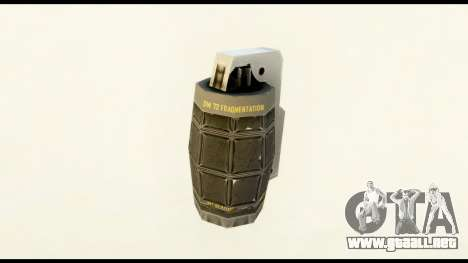 Grenade from Crysis 2 para GTA San Andreas segunda pantalla