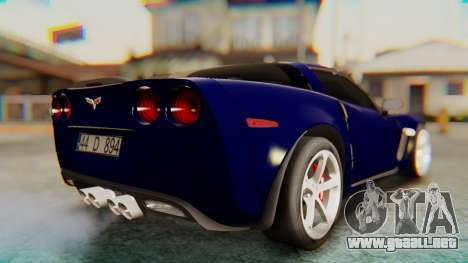 Chevrolet Corvette Sport para GTA San Andreas left