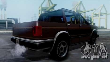 Landstalker Pickup para GTA San Andreas left
