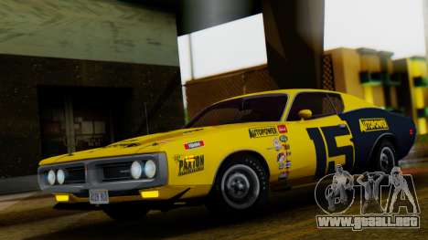 Dodge Charger Super Bee 426 Hemi (WS23) 1971 para la vista superior GTA San Andreas