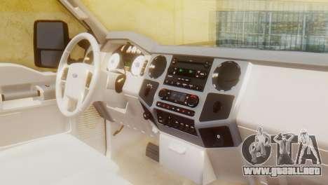 Ford F-350 Super Duty Regular Cab 2008 HQLM para la visión correcta GTA San Andreas