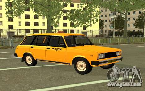 VAZ 2104 Taxi para GTA San Andreas vista posterior izquierda