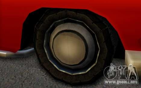 Dundreary Hermes para GTA San Andreas vista posterior izquierda