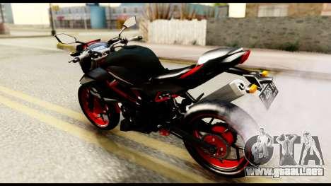 Kawasaki Z250SL Red para GTA San Andreas vista posterior izquierda