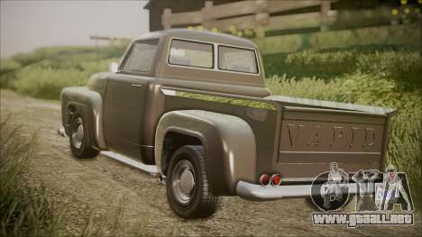 GTA 5 Vapid Slamvan Pickup IVF para GTA San Andreas left
