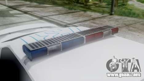 Hunter Citizen v3 IVF para GTA San Andreas vista hacia atrás