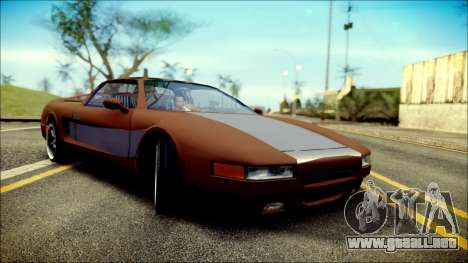 Infernus New Edition para GTA San Andreas vista posterior izquierda